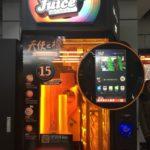 上海の駅地下で飲める自動オレンジジュース絞り機
