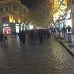 中国 ハルビンの一番の繫華街 中央大街