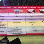 シンガポール チャンギ空港で買えるシムカード 2019年 7月現在